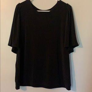 Worthington Black Blouse Large
